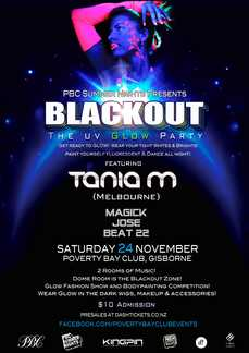 PBC Summer Nights presents: Blackout UV Party ft. Tania M