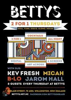 '2 FOR 1 THURSDAYS' w DJs Gus, Micah, B-Lo & Kev Fresh